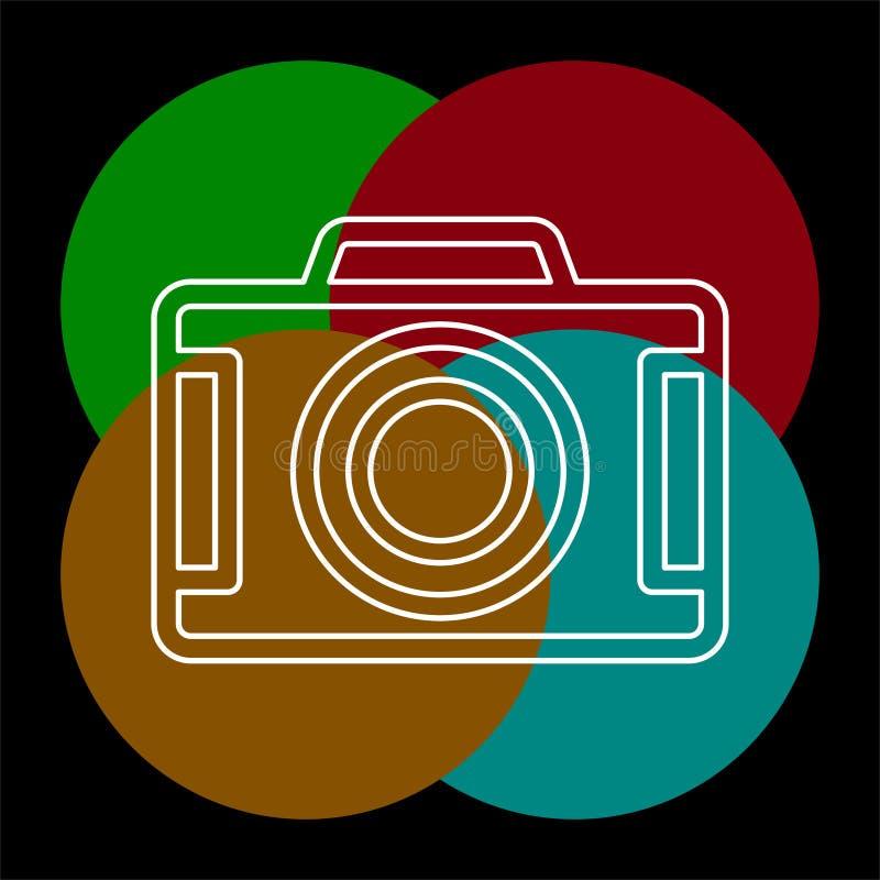 Vektorkamerasymbol - symbol f?r digitalt fotografi stock illustrationer