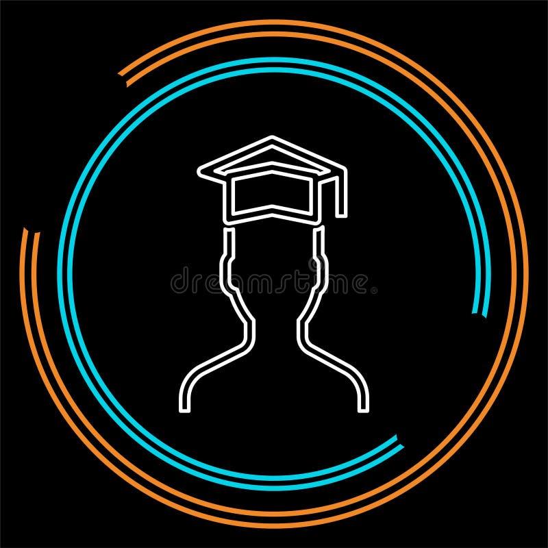 Vektorkandidatstudent - utbildning royaltyfri illustrationer
