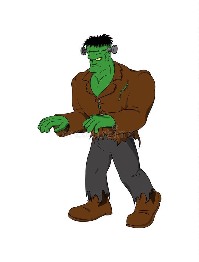 Vektorkarikatur - Charakter Frankenstein Halloween lizenzfreie stockfotografie