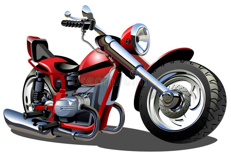 Vektorkarikatur-Motorrad lizenzfreie abbildung