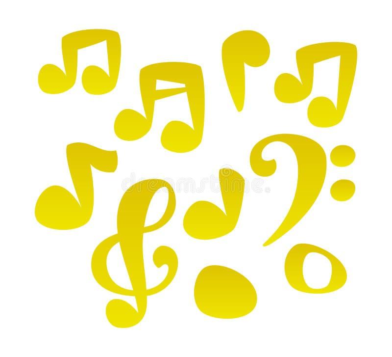Vektorkarikatur-Musikanmerkungen vektor abbildung