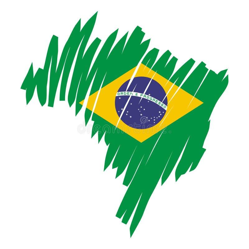 Vektorkarte Brasilien stock abbildung