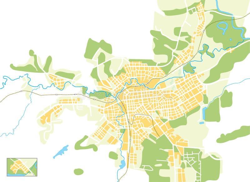 Vektorkarte der Stadt lizenzfreie abbildung