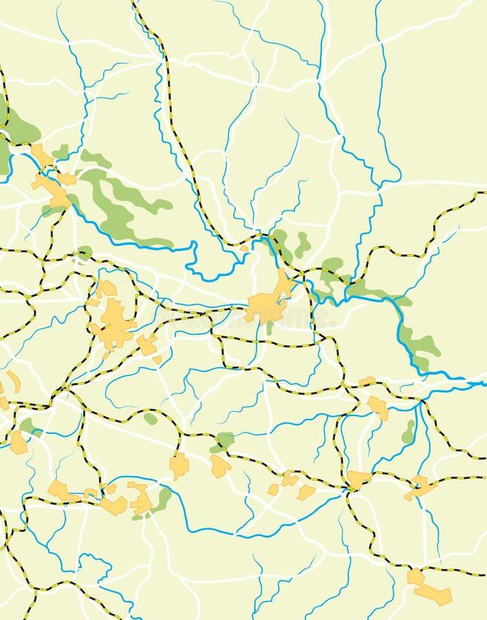 Vektorkarte des Landes stock abbildung