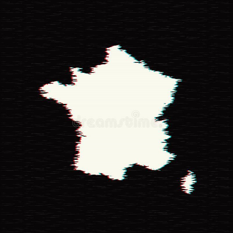 Vektorkarte Frankreich vektor abbildung