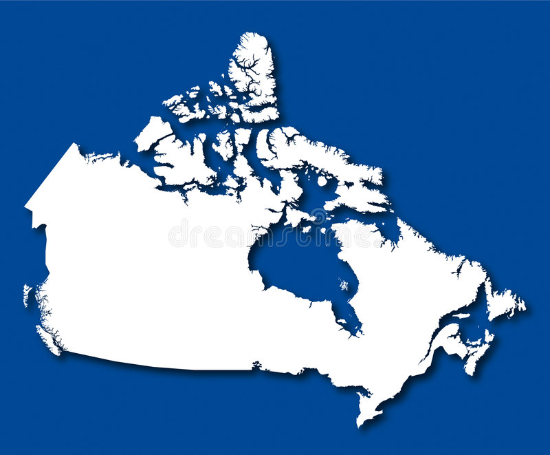 Vektorkarte Kanada stock abbildung