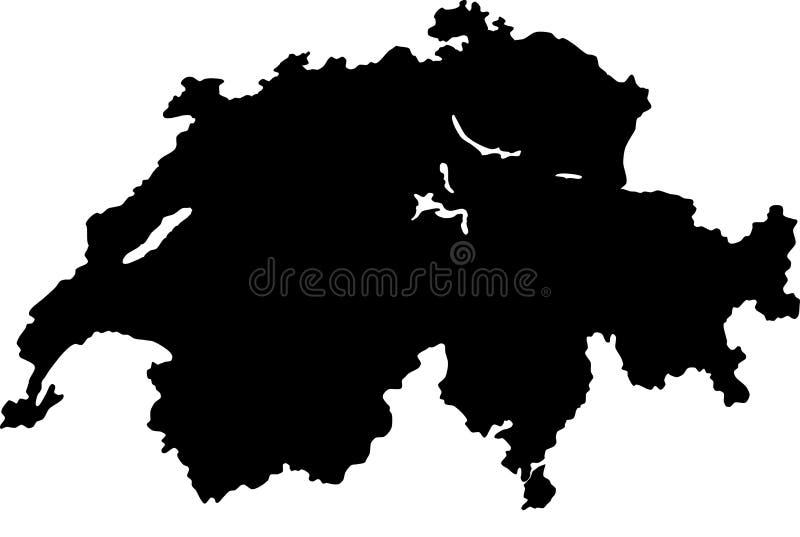 Vektorkarte von der Schweiz vektor abbildung