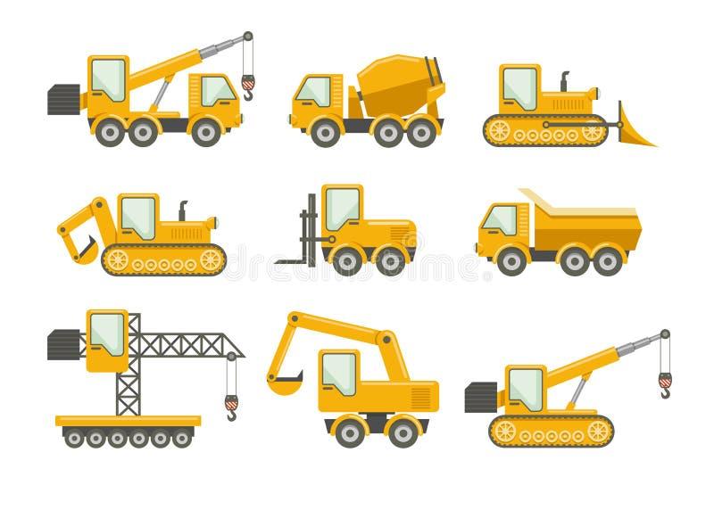 Vektorkonstruktionssymboler stock illustrationer