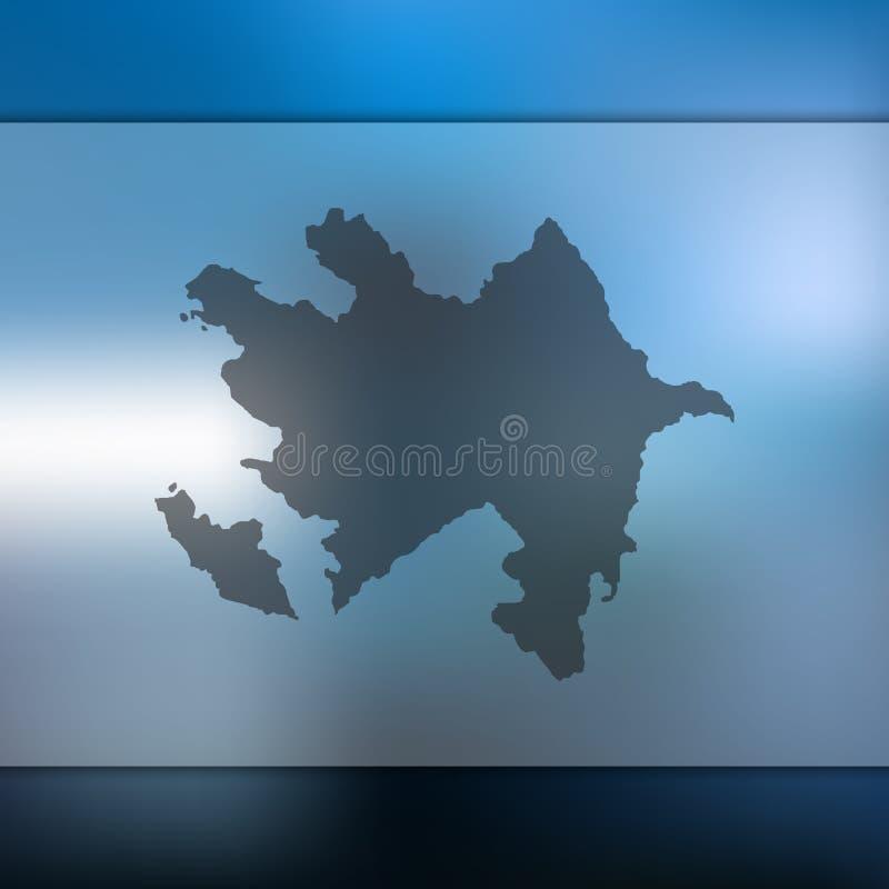 Vektorkontur av Azerbajdzjan suddighet bakgrund stock illustrationer