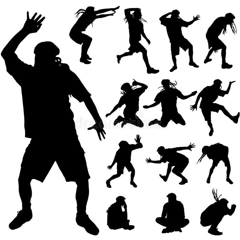 Vektorkontur av dansen royaltyfri illustrationer