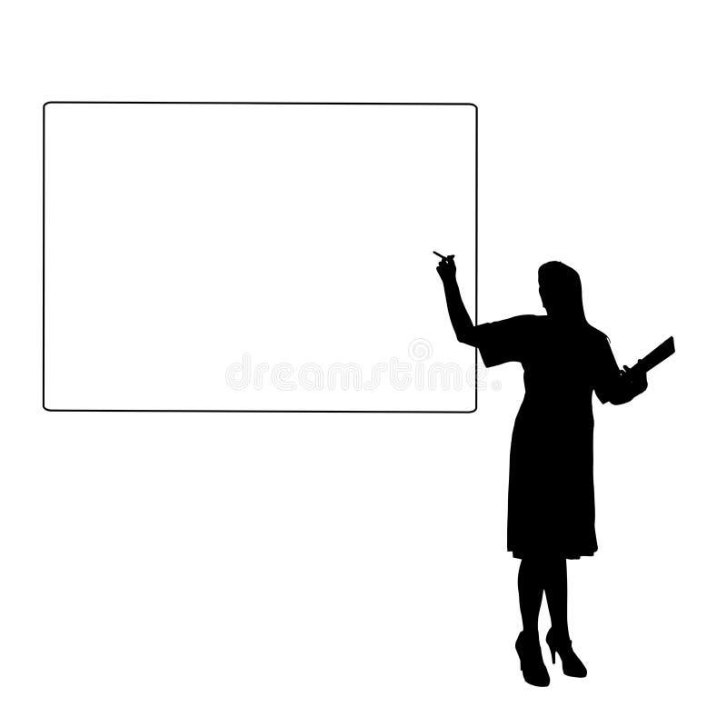 Vektorkontur av en kvinna vektor illustrationer