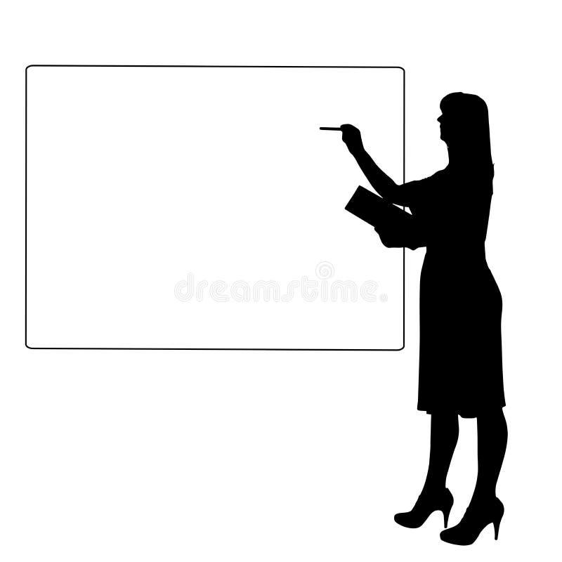 Vektorkontur av en kvinna royaltyfri illustrationer