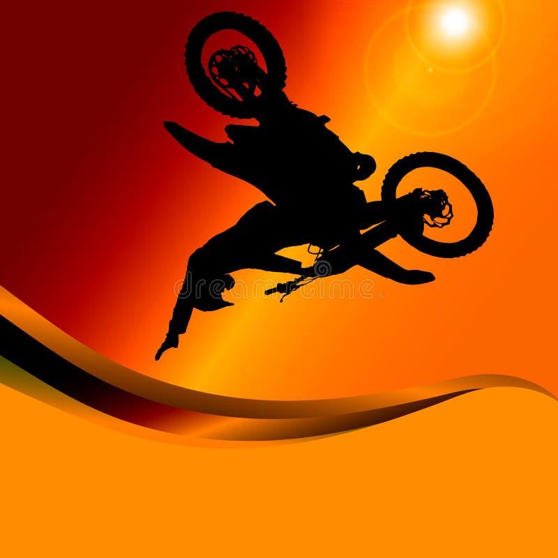 Vektorkontur av en motorcykel royaltyfri illustrationer