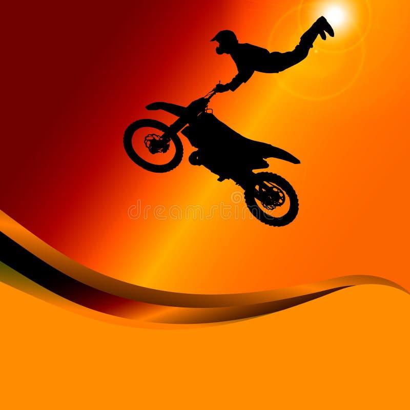 Vektorkontur av en motorcykel vektor illustrationer