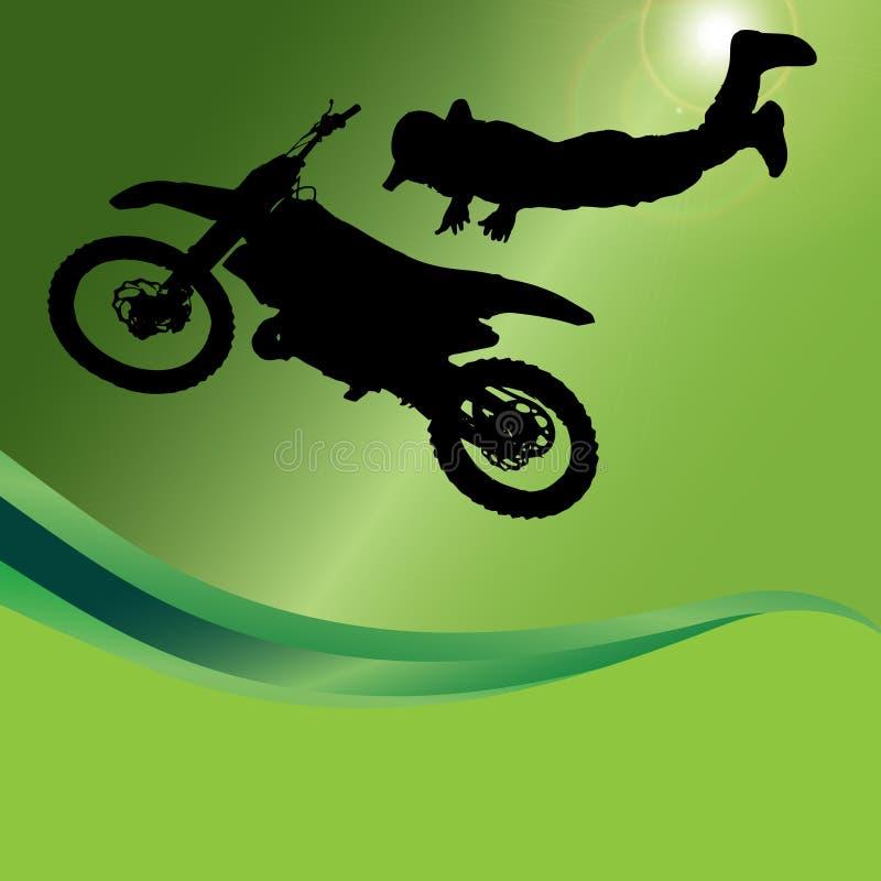 Vektorkontur av en motorcykel stock illustrationer