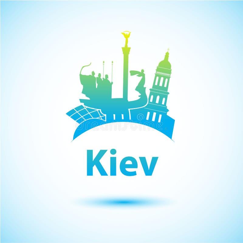 Vektorkontur av Kiev vektor illustrationer