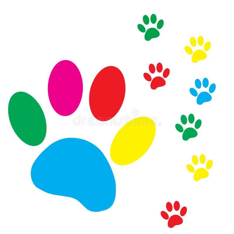 Vektorkonturhunden tafsar royaltyfri illustrationer