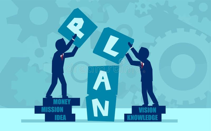 Vektorkonzept der Teamwork und der Partnerschaft stock abbildung