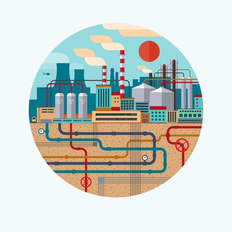 Vektorkonzeptillustration der Naturverschmutzung lizenzfreie abbildung
