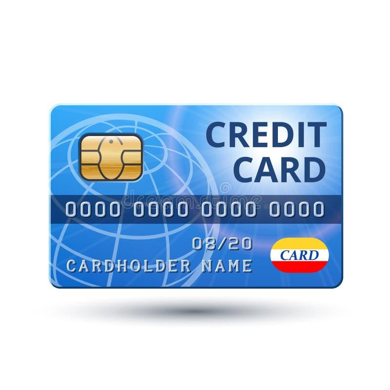 Vektorkreditkarteikone auf wei?em Hintergrund stock abbildung
