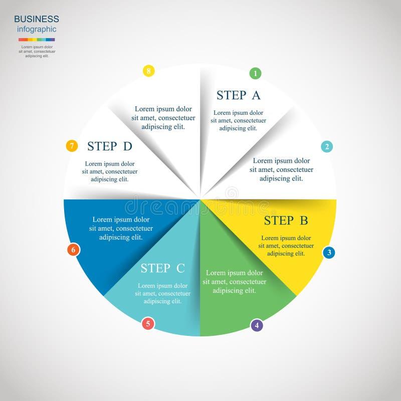 Vektorkreis infographic lizenzfreie abbildung