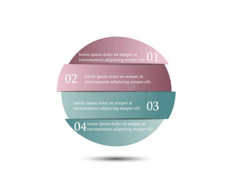 Vektorkreis infographic Schablone für Diagramm, Diagramm, presenta stock abbildung