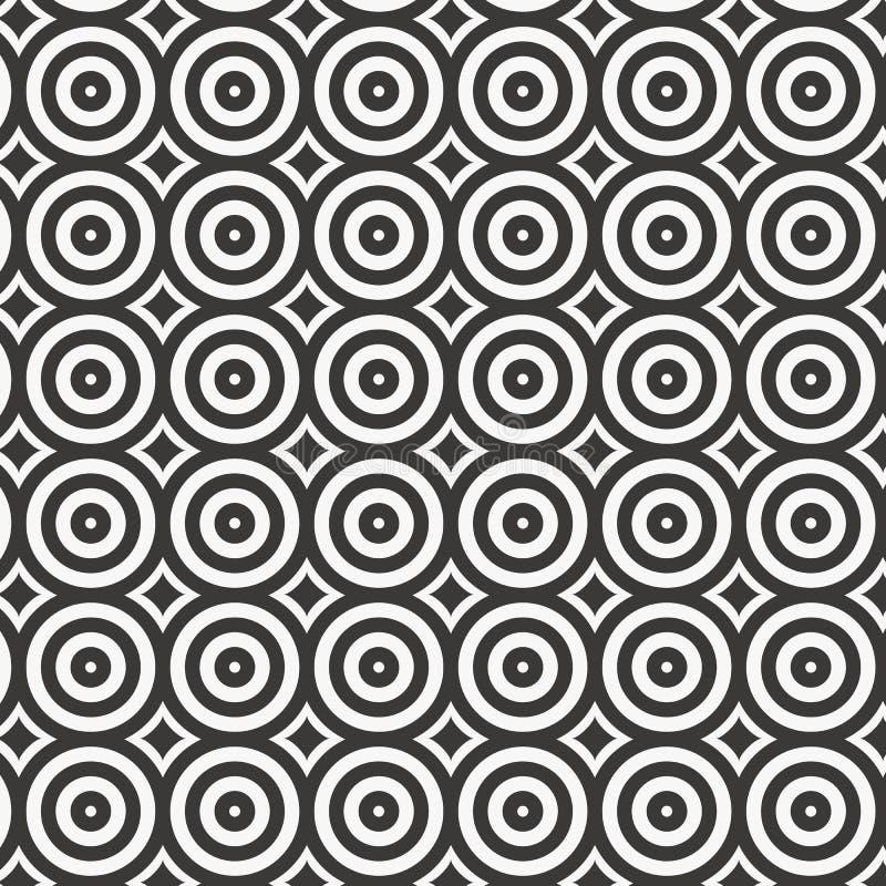 Vektorkreismuster, linearen Kreis mit abstrakten Sternen wiederholend, geometrischer Hintergrund stock abbildung
