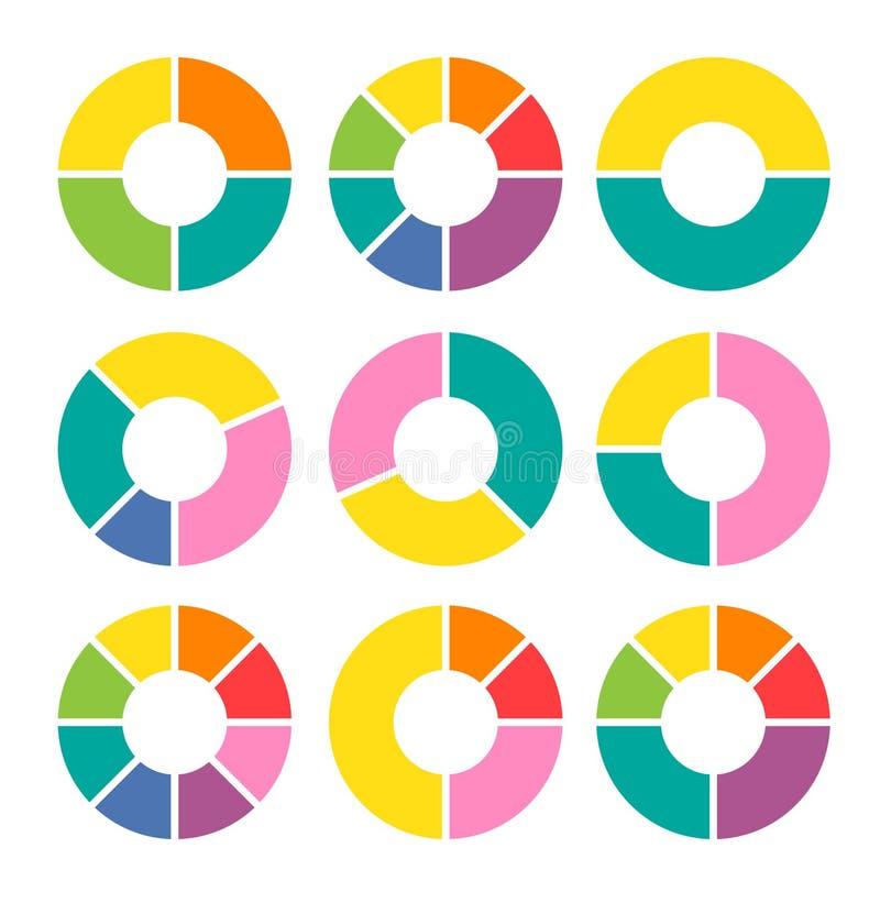 Vektorkreispfeile für infographic vektor abbildung