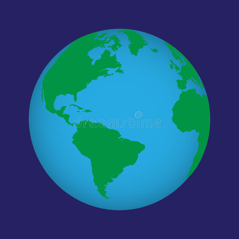 Vektorkugel der Welt. stock abbildung