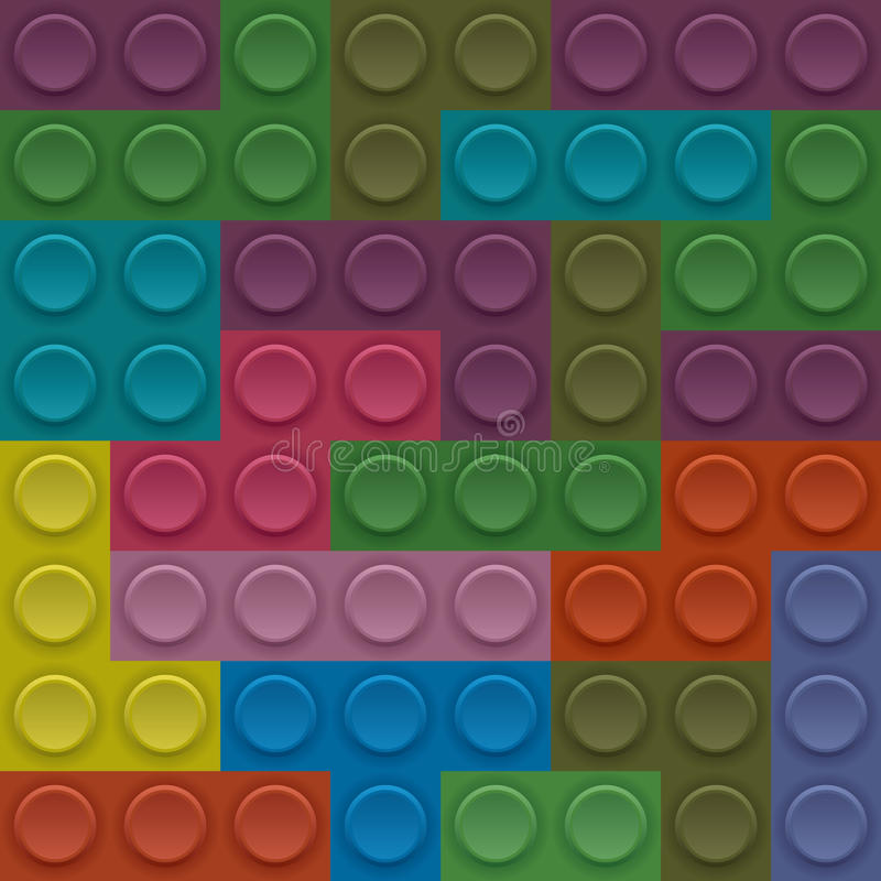 Vektorkvarter Lego vektor illustrationer