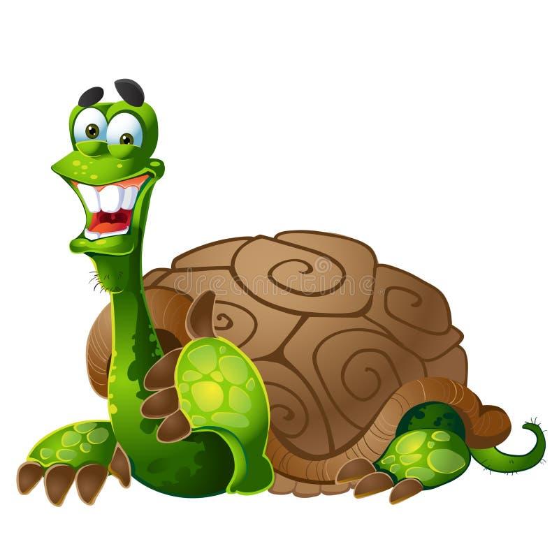 Vektorlächelnde Schildkröte lizenzfreie abbildung