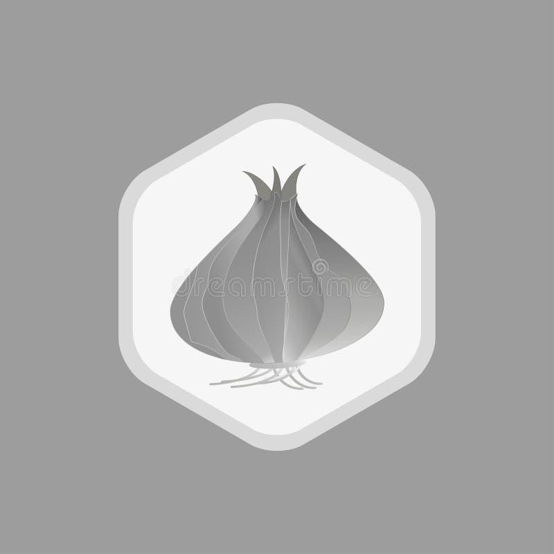 Vektorlöksymboler Monokrom teckning p? vit bakgrund Enkel mall för den framkallande logoen för lantgårdar, marknader, vykort vektor illustrationer