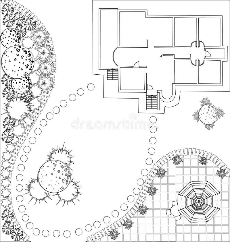 Vektorlandskapplan vektor illustrationer