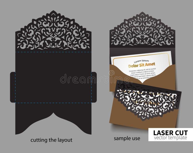 Vektorlaser-klipp royaltyfri illustrationer