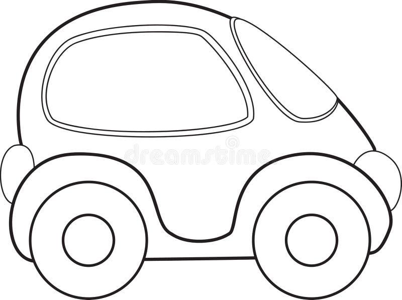 Vektorleksakbil vektor illustrationer