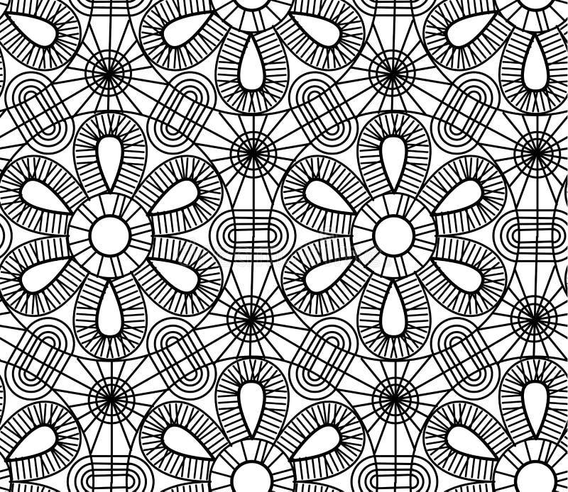 Vektorlinje sömlös modell för geometristil royaltyfri illustrationer