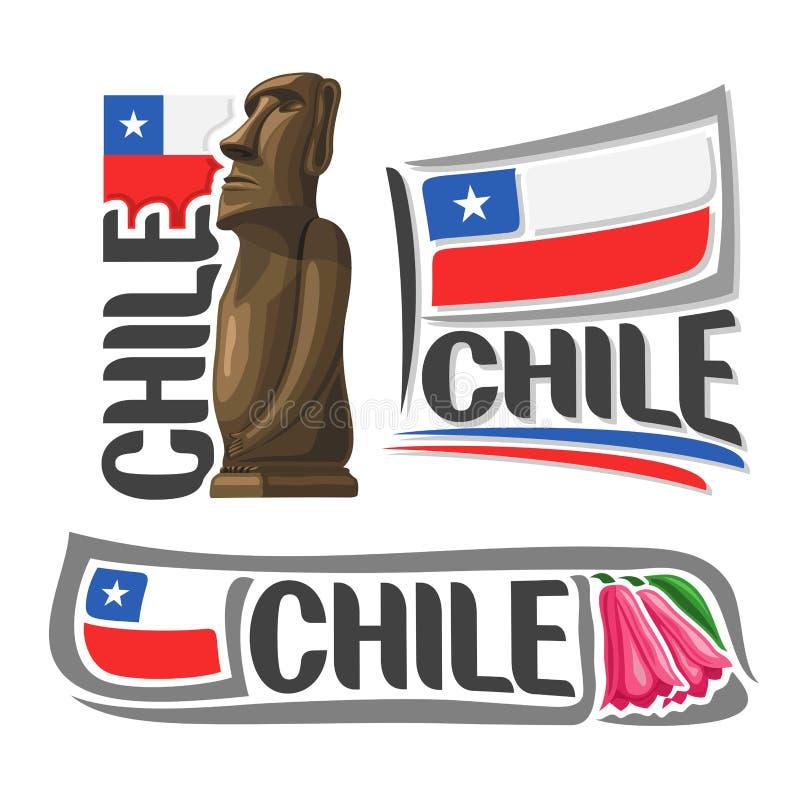 Vektorlogo Chile lizenzfreie abbildung