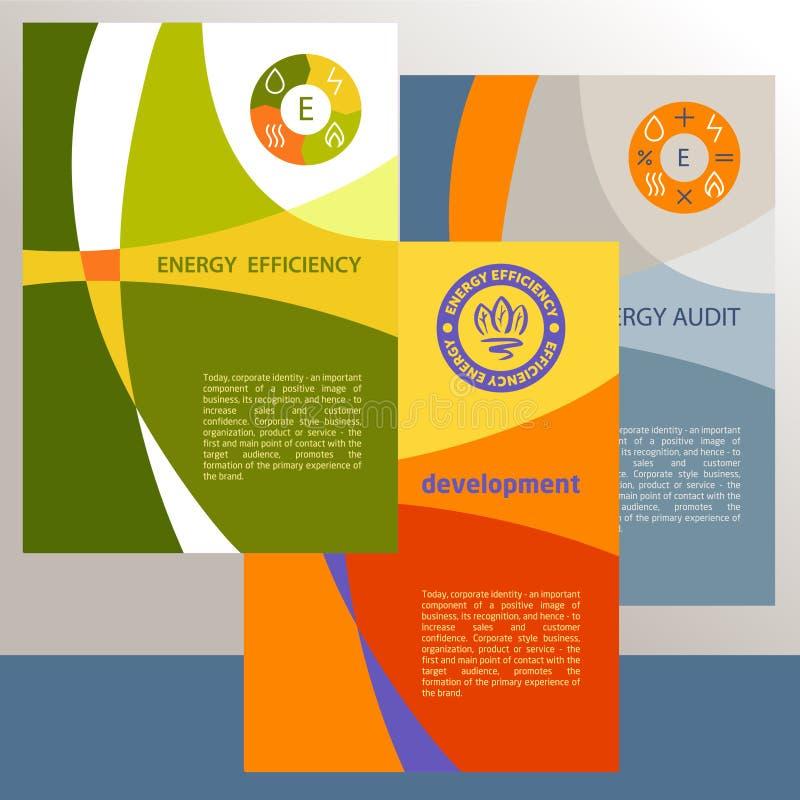 Vektorlogo, Energieeffizienz Diagramm Des Wachstums Vektor Abbildung ...
