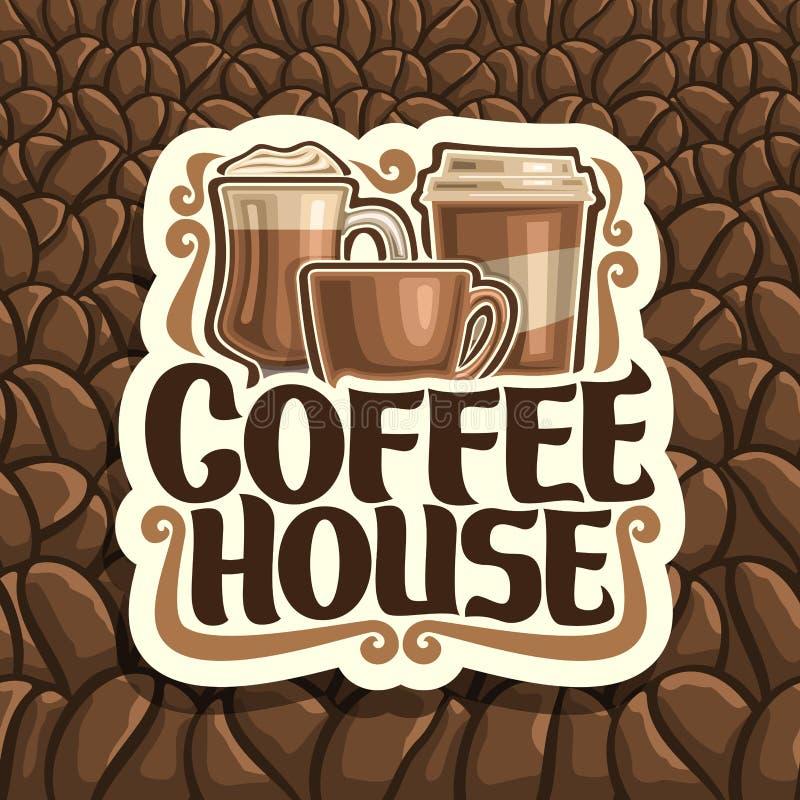 Vektorlogo för kaffehus royaltyfri illustrationer