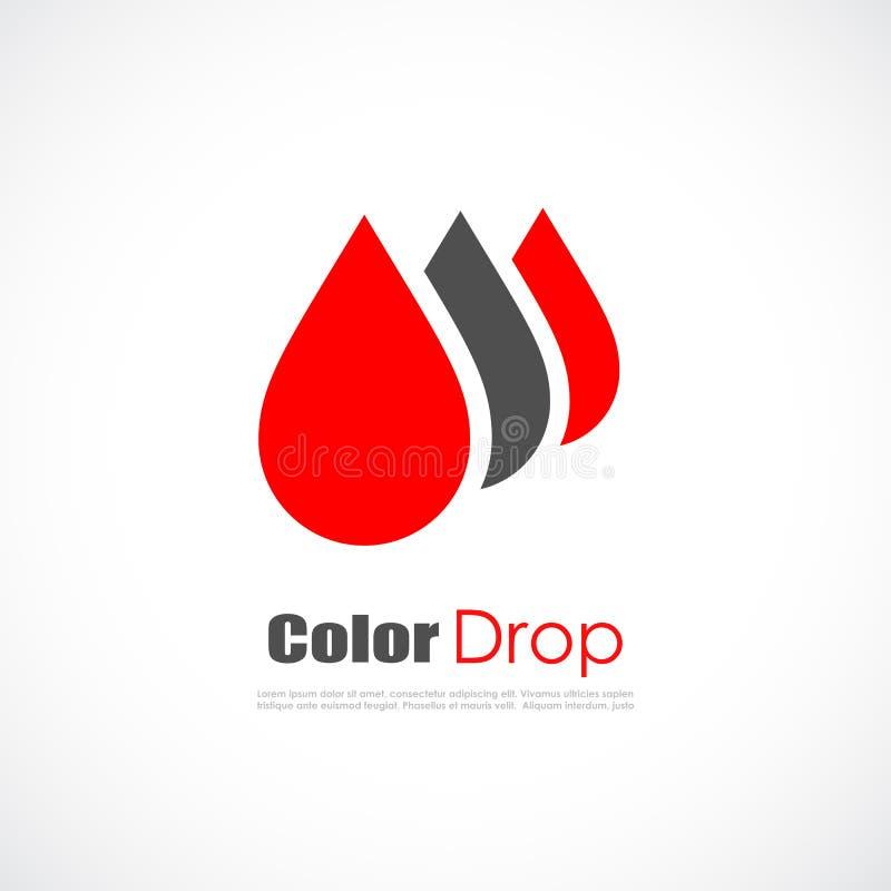 Vektorlogo för röd droppe royaltyfri illustrationer