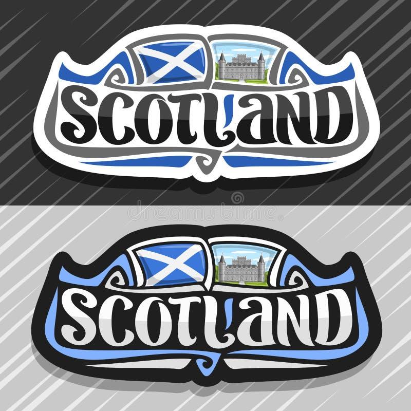 Vektorlogo für Schottland lizenzfreie abbildung