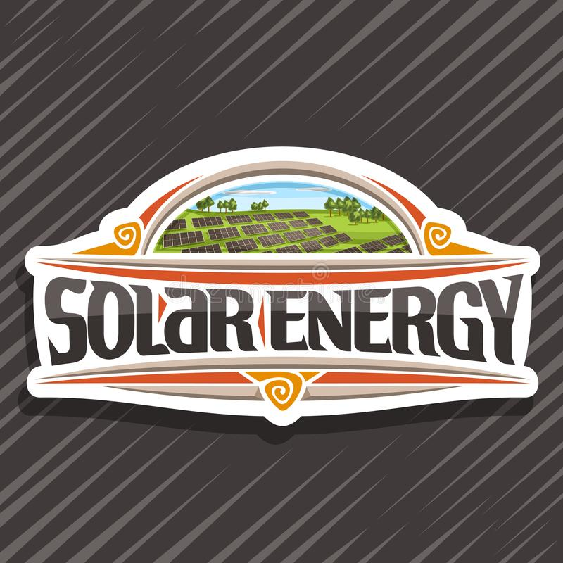 Vektorlogo für Solarenergie vektor abbildung