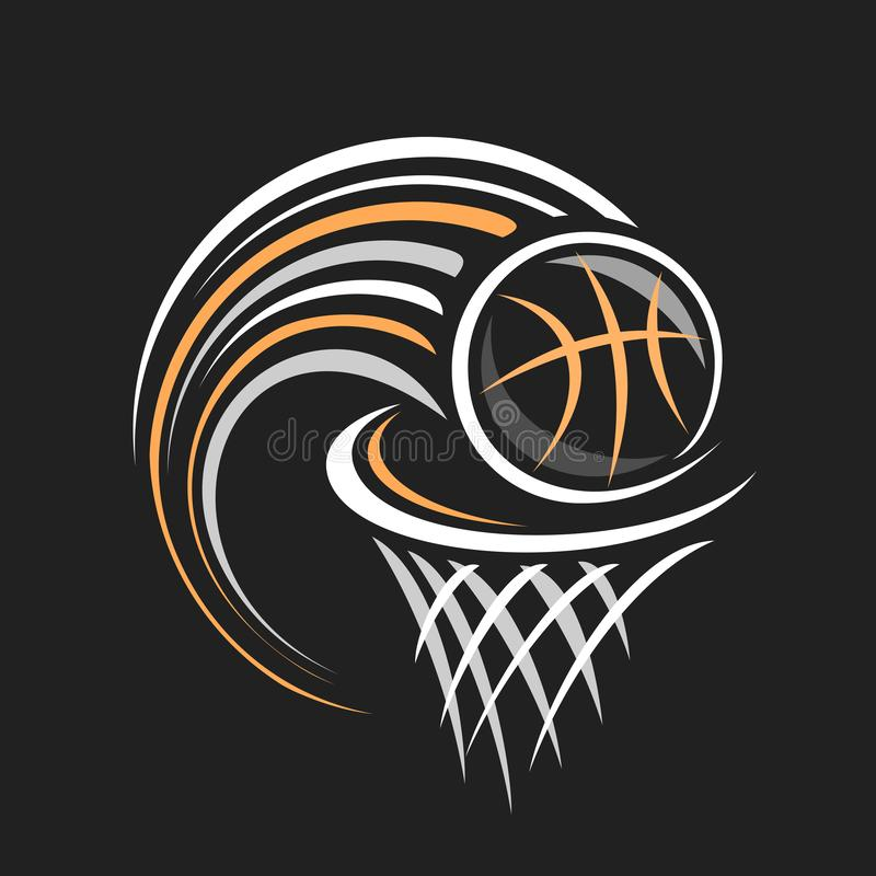 Vektorlogo f?r Basketball stock abbildung
