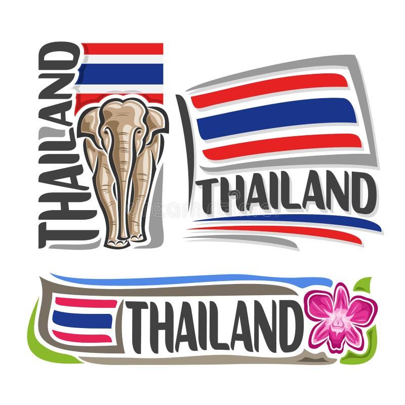 Vektorlogo Thailand stock illustrationer