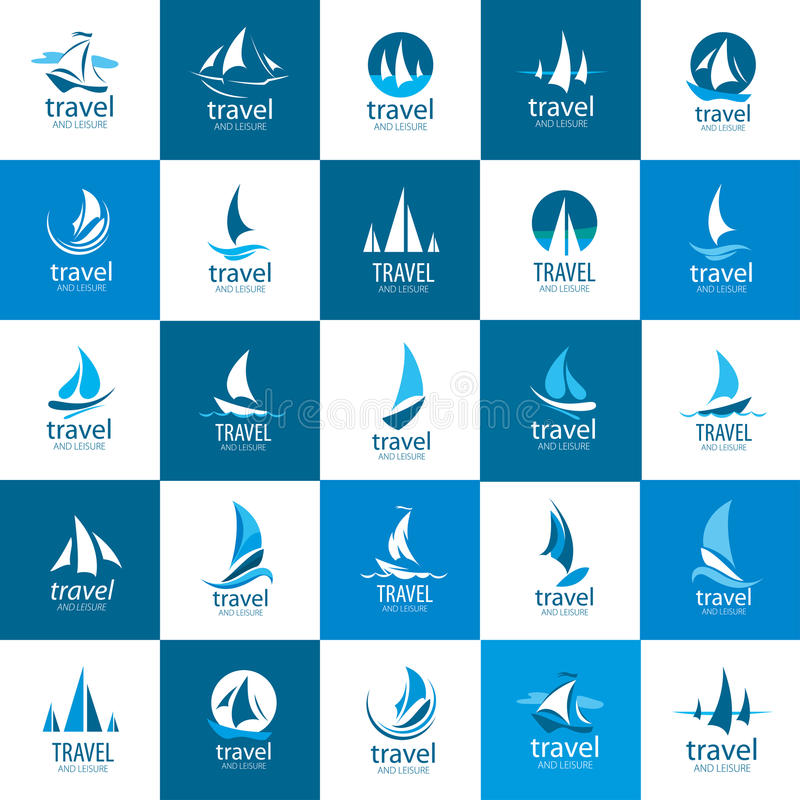 Vektorlogo Yacht vektor abbildung