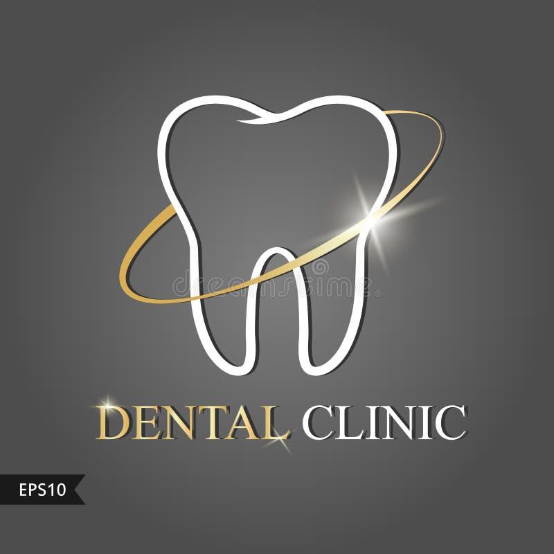 Vektorlogobild för tand- kliniker Logo Vector illustration royaltyfri illustrationer