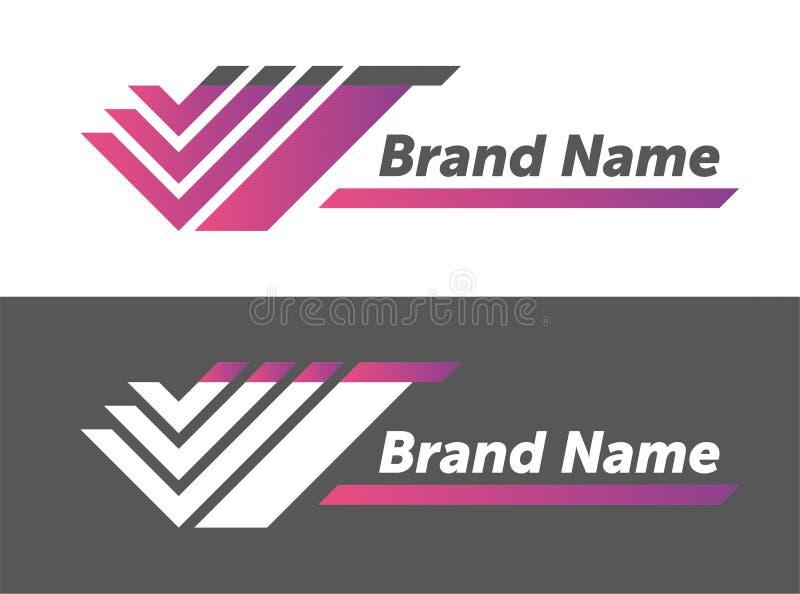 Vektorlogodesign din märkesnamndesign idérik planläggande logotyp stock illustrationer