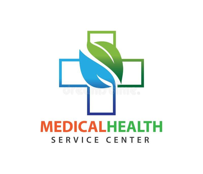 Vektorlogodesign für Gesundheitswesen, gesunder Klinikdoktor der Familie, Wellnessmitte, Drogerie, medizinische Klinik, lizenzfreie abbildung