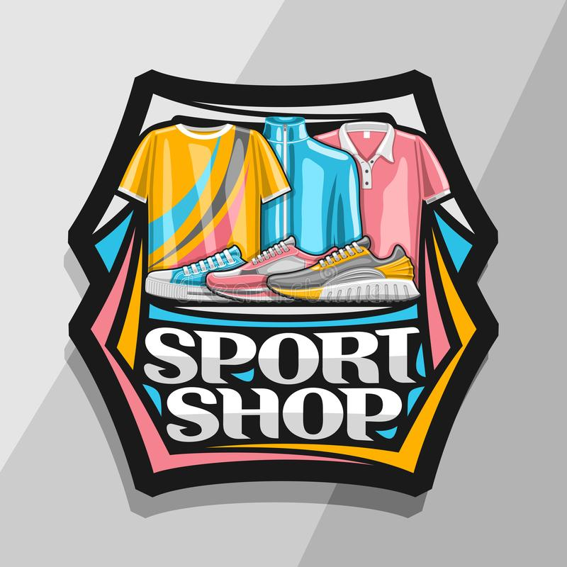 Vektorlogoen för sport shoppar vektor illustrationer