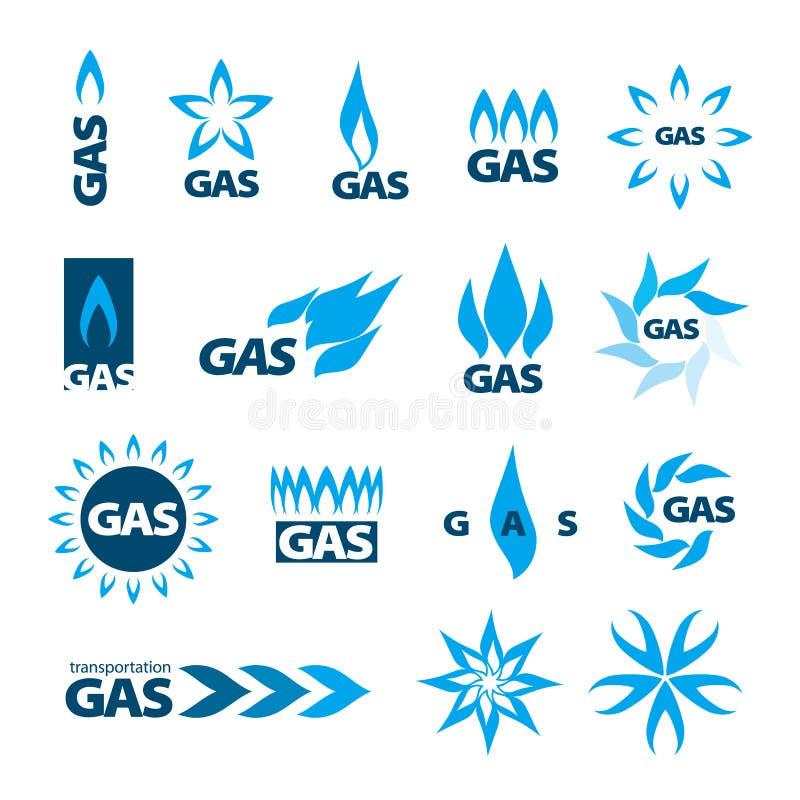 Vektorlogoer av naturgas royaltyfri illustrationer